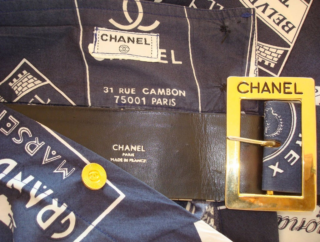CHANEL 1950's Inspired Skirt With Matching Signed Belt 6
