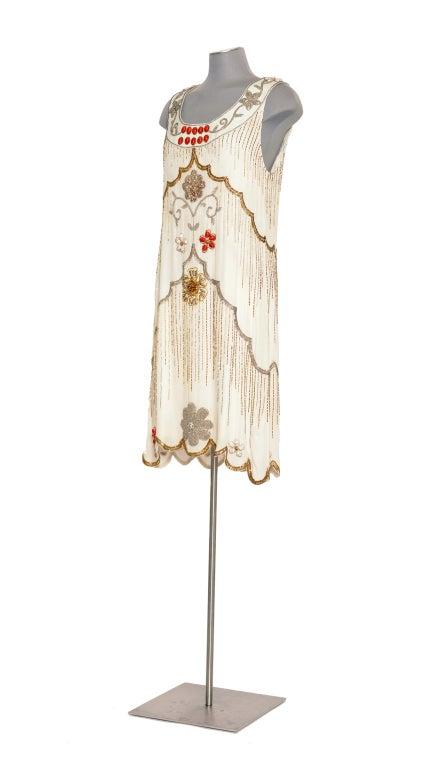 Early MATTHEW WILLIAMSON silk embellished Gatsby dress 3