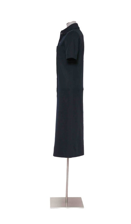 Vintage 60's YVES ST LAURENT Navy Blue Shirtdress image 5