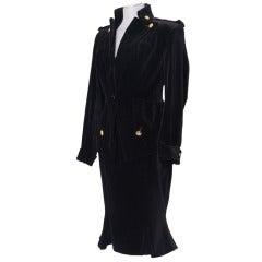 Vintage VIVIENNE WESTWOOD Velvet Suit & Matching Corset