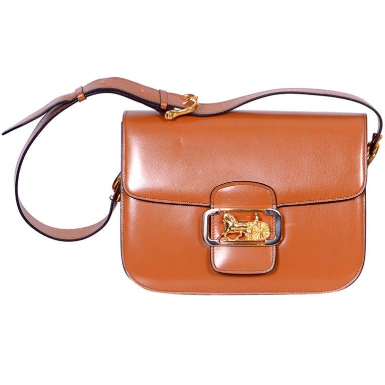 Vintage CELINE Box Shoulder Bag at 1stdibs