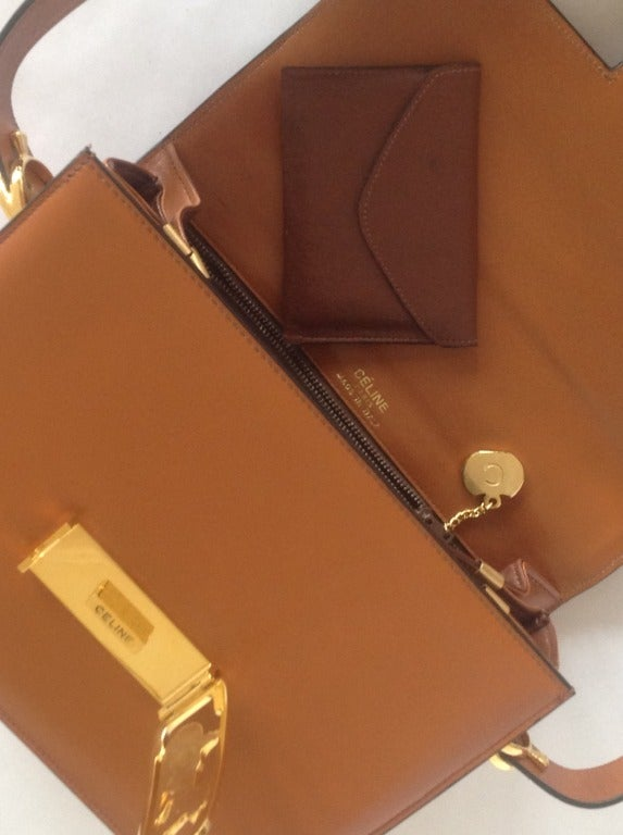 Vintage CELINE Box Shoulder Bag at 1stdibs