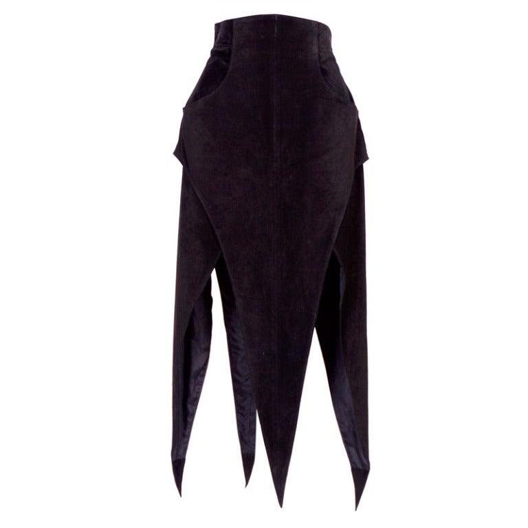 Early KARL LAGERFELD Suede Skirt