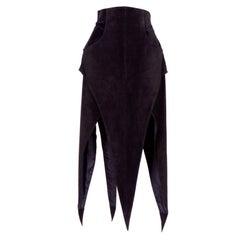 Vintage 1990s Karl Lagerfeld suede skirt