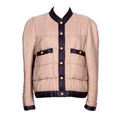 CHANEL Padded Silk Jacket