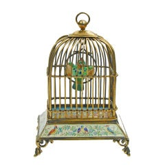 Viennese Silver-Gilt and Enamel Bird Cage