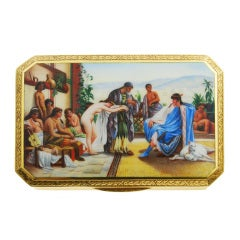 French Fine  Gold & Enamel Box