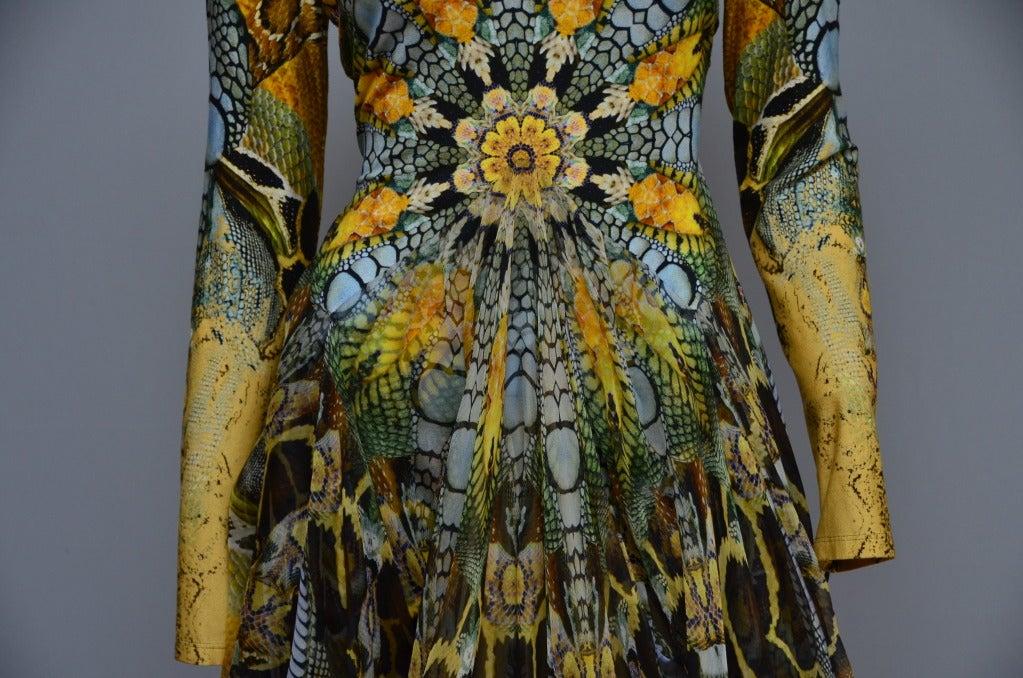 Alexander Mcqueen Plato S Atlantis Snake Print Dress 2010