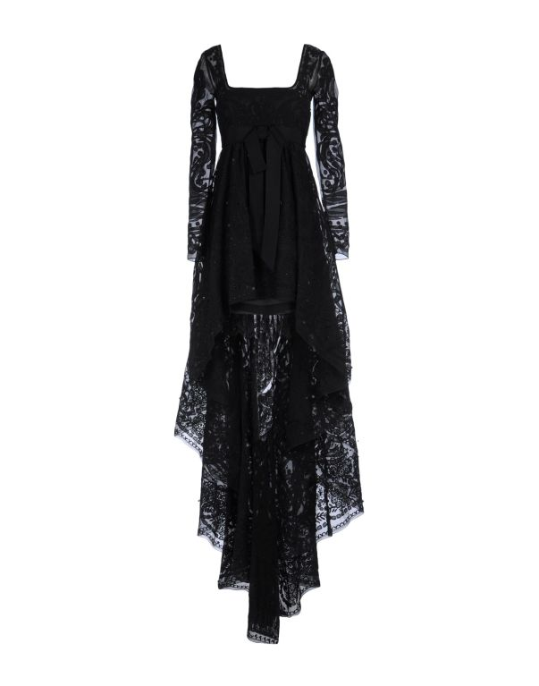 Emilio Pucci Black Lace Dress With Sheer Sleeves and  Embroidery 2