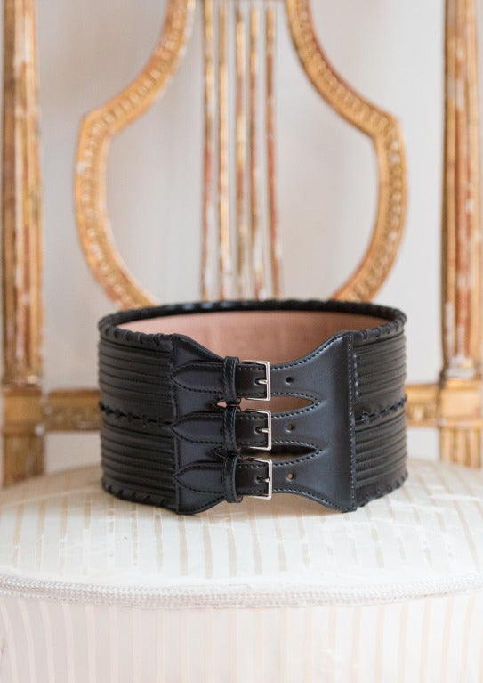 Azzedine Alaia Corset Style Belt Intricate Leather Detail