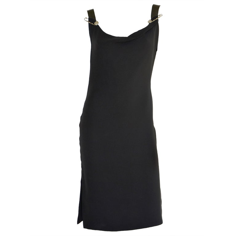 GIANNI VERSACE COUTURE LITTLE BLACK DRESS 1990's at 1stdibs
