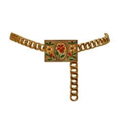 Chanel Belt Enamel Flowers