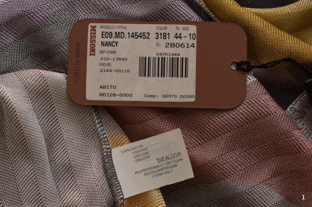 Women's Missoni Dress Orange Label For Sale