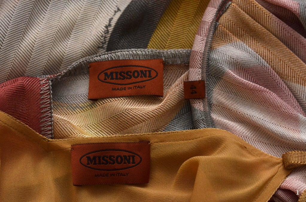 Missoni Dress Orange Label For Sale 1