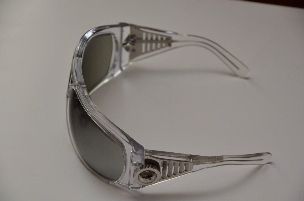 Gray Balenciaga Futuristic Sunglasses By Safilo, 2007 Collection  For Sale