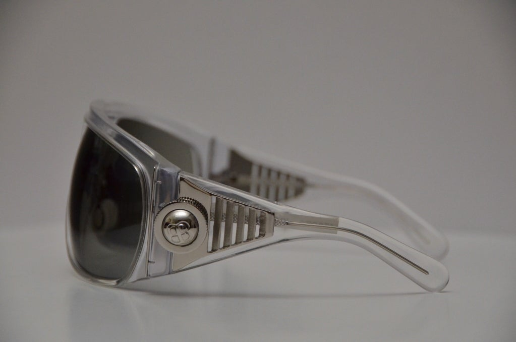 Balenciaga Futuristic Sunglasses 2007 Collection By Safilo Rare In New Never_worn Condition For Sale In Hollywood, FL