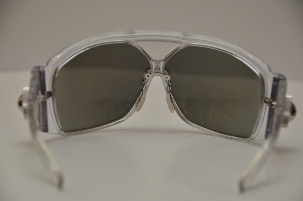 Balenciaga Futuristic Sunglasses 2007 Collection By Safilo Rare For Sale 1