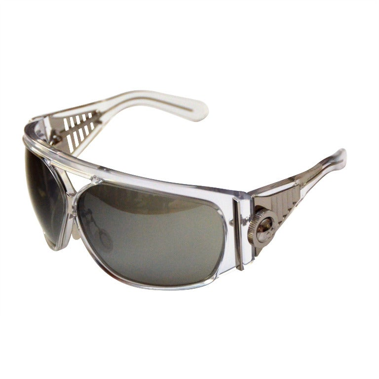 Balenciaga Futuristic Sunglasses 2007 Collection By Safilo Rare For Sale