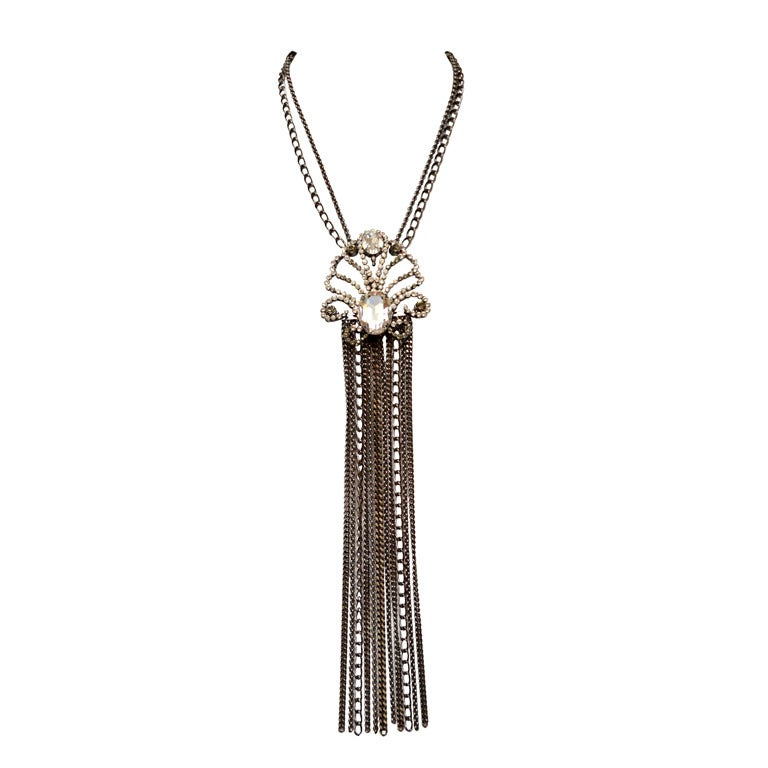 GIANFRANCO FERRE Necklace Swarovski Crystals