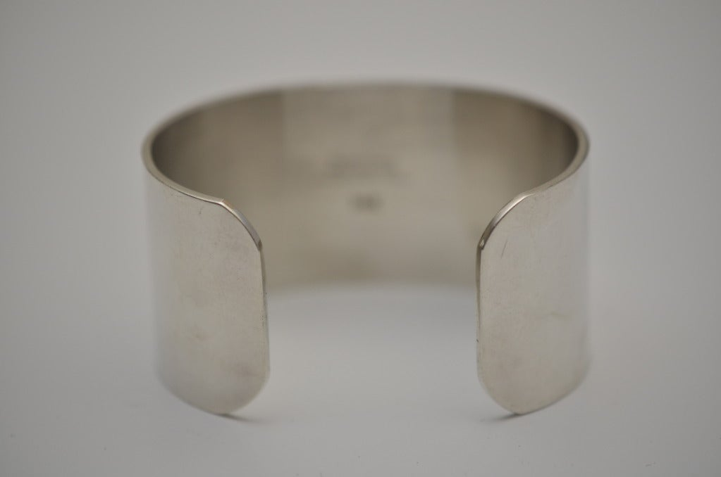 Vintage PIERRE CARDIN Cuff Sterling Silver 14K Aphrodite Bracelet 5