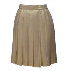 Gianni Versace Couture  Gold Mini Skirt