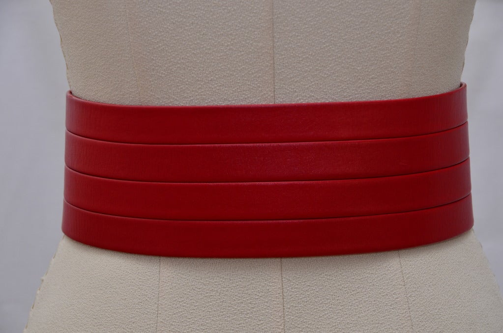 Chanel Red  Corset Belt New '90 4