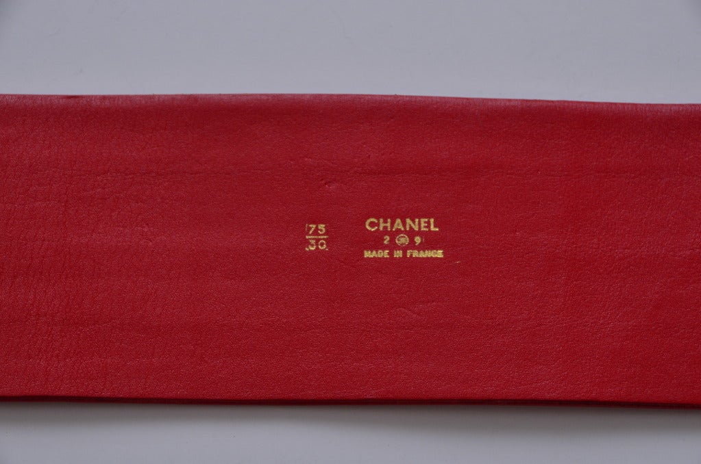Chanel Red  Corset Belt New '90 6