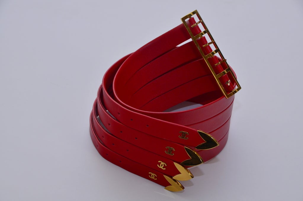 Chanel Red  Corset Belt New '90 5