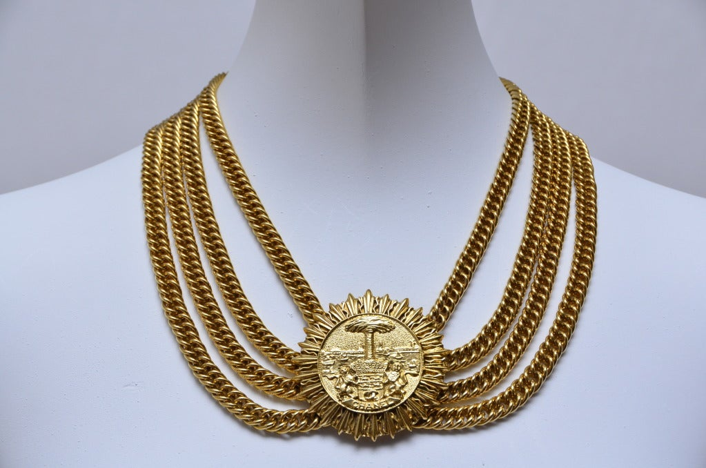 Chanel Choker Necklace With  Large Medallion 2
