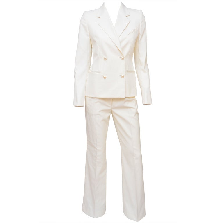 Chanel Off White Suit '01