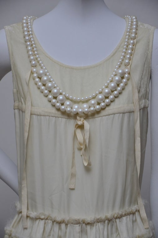 Tao Comme Des Garcons Dress With Pearl Necklace At 1stdibs