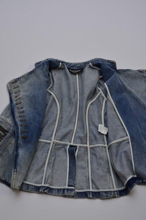 Balmain Military Denim Jacket 5