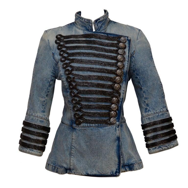 Balmain Military Denim Jacket 1