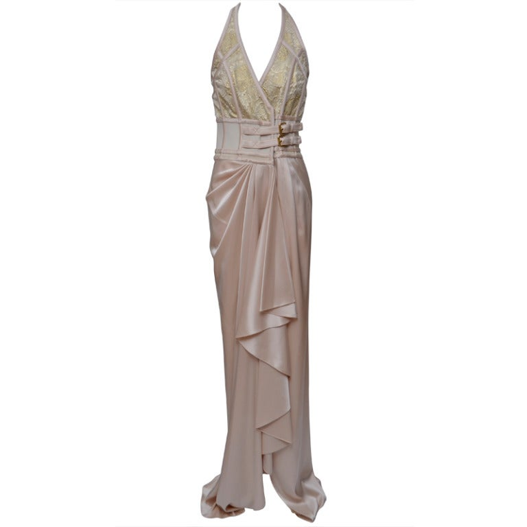 Balenciaga long dress gown at 1stdibs for Costume jewelry for evening gowns