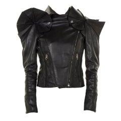 Viktor & Rolf Black Leather Runway  Jacket