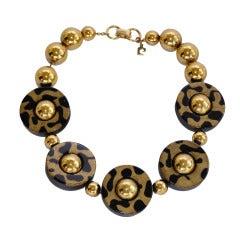 Pierre Cardin  Leopard Choker Necklace