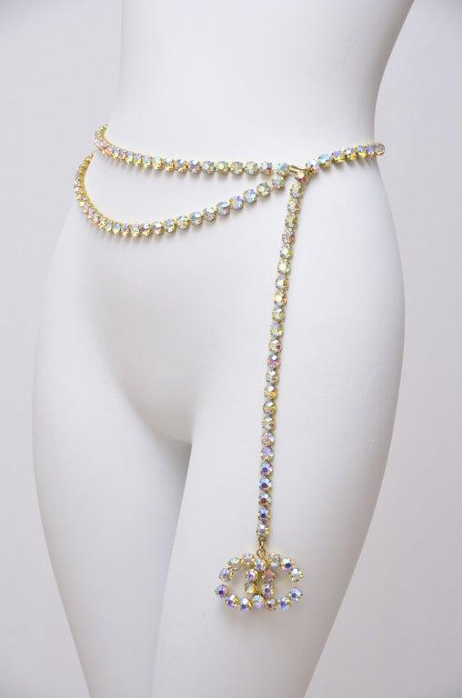 Chanel Crystal Embellished Belt At 1stdibs