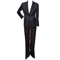Tom Ford for Gucci Crocodile Textured Black  Suit