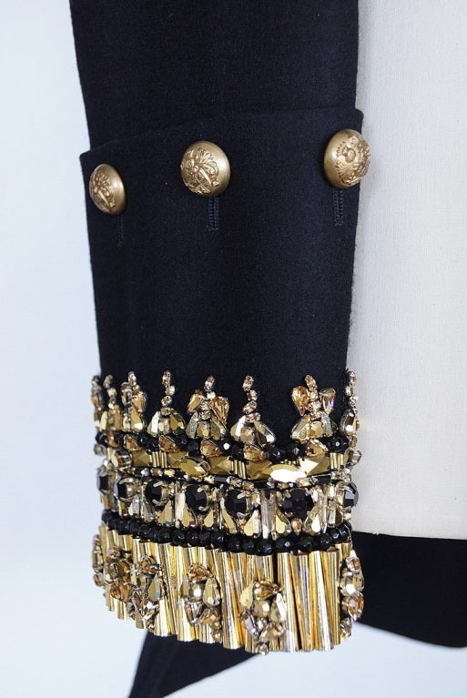 alexander mcqueen military jacket coat jeweled new 44 at 1stdibs