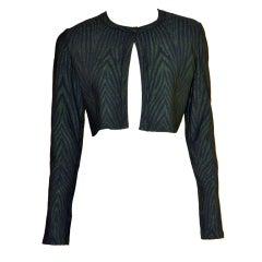 AZZEDINE ALAIA bolero style jacket zebra print 44