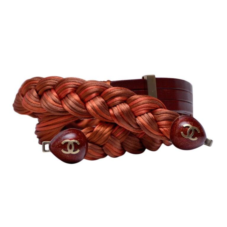 Chanel Silk Rope Belt, 2008