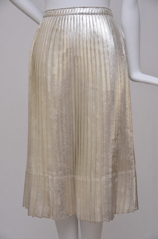 Jil Sander Metallic Skirt 2