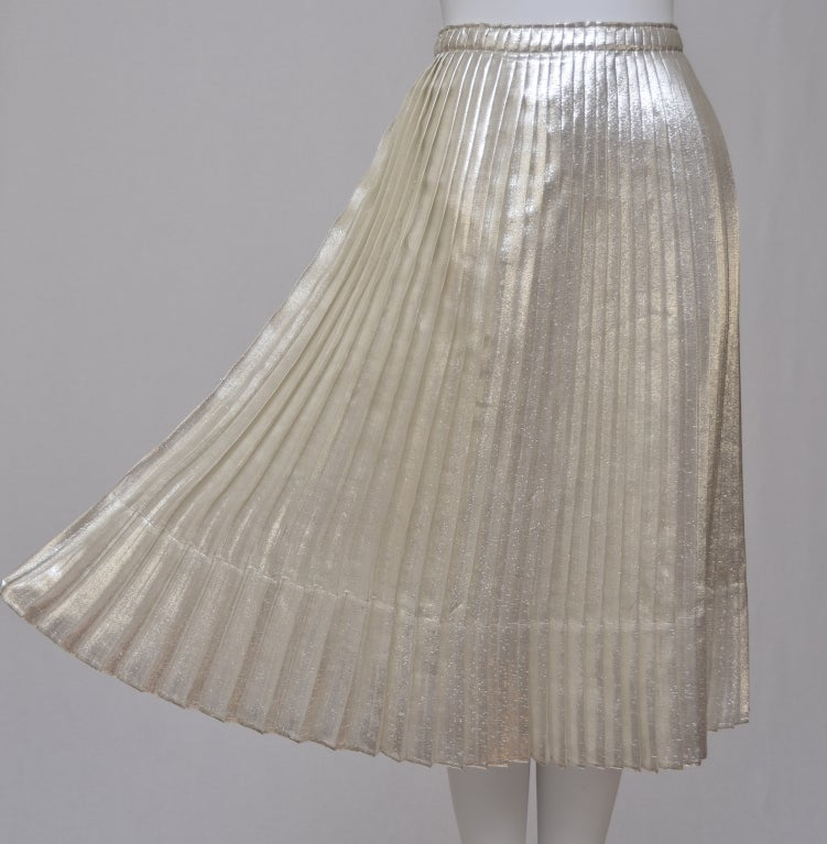 Jil Sander Metallic Skirt 3