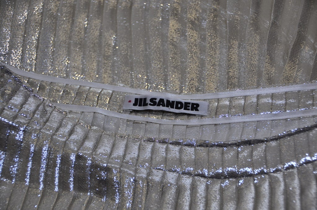 Jil Sander Metallic Skirt 4