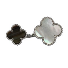 Van Cleef & Arpels Lucky Clover Alhambra Mother Of Pearl 18k W