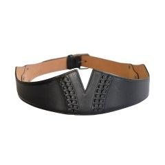AZZEDINE ALAIA BELT Leather Waist SIZE 85