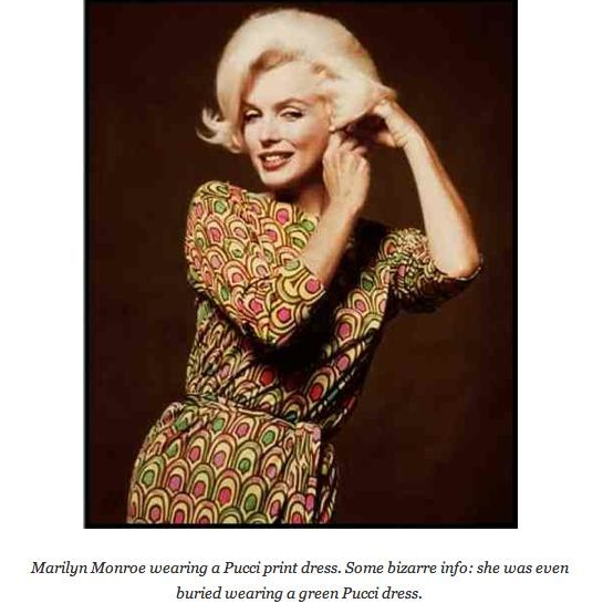 Emilio Pucci Dress Marilyn Monroe Emilio Pucci Silk Dress