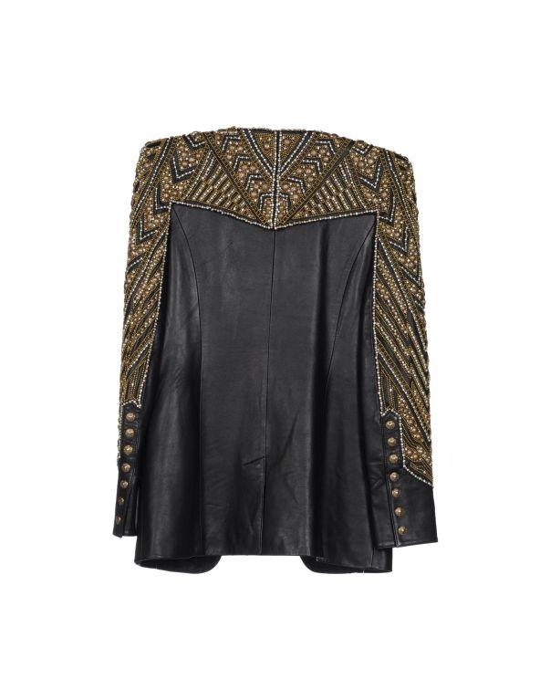BALMAIN Embellished leather jacket NWT 2