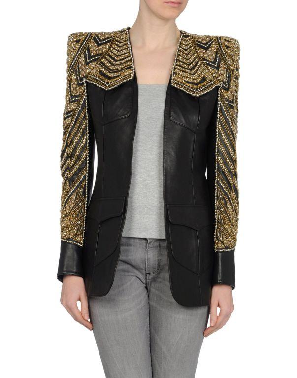 BALMAIN Embellished leather jacket NWT 3