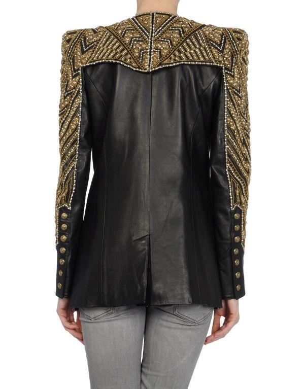BALMAIN Embellished leather jacket NWT 4